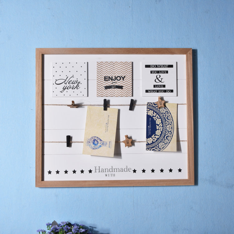 Wall Decor Photo Organizer Board with Clips Clamps - InStyle Walls LLC