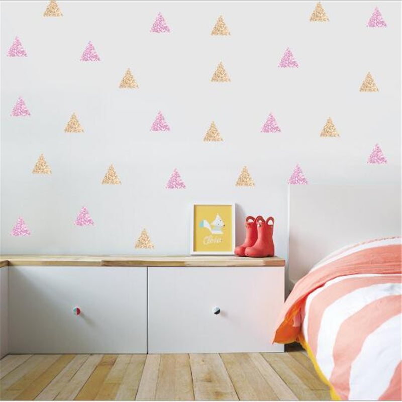 Watercolor Triangles Wall Stickers - InStyle Walls LLC