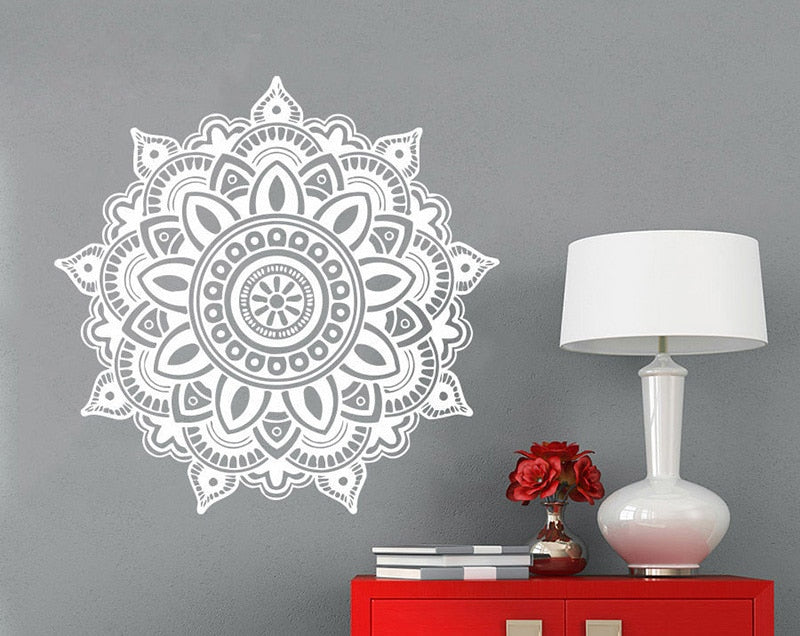 Mandala Flower Indian Wall Decal - InStyle Walls LLC