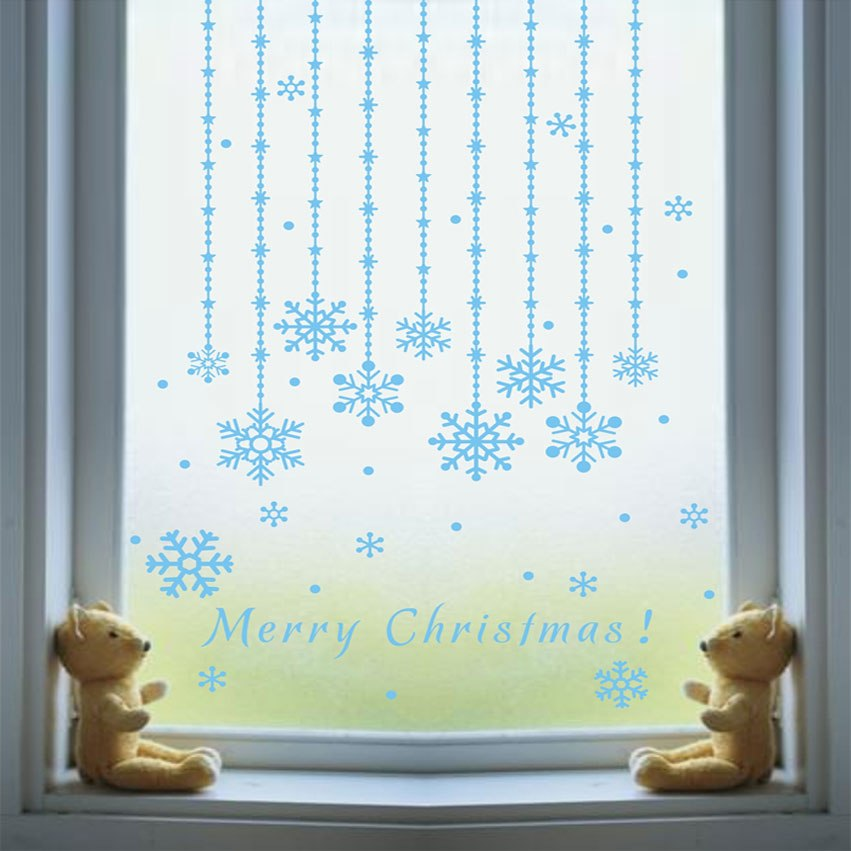 Holiday curtains hanging chain wall stickers - InStyle Walls LLC
