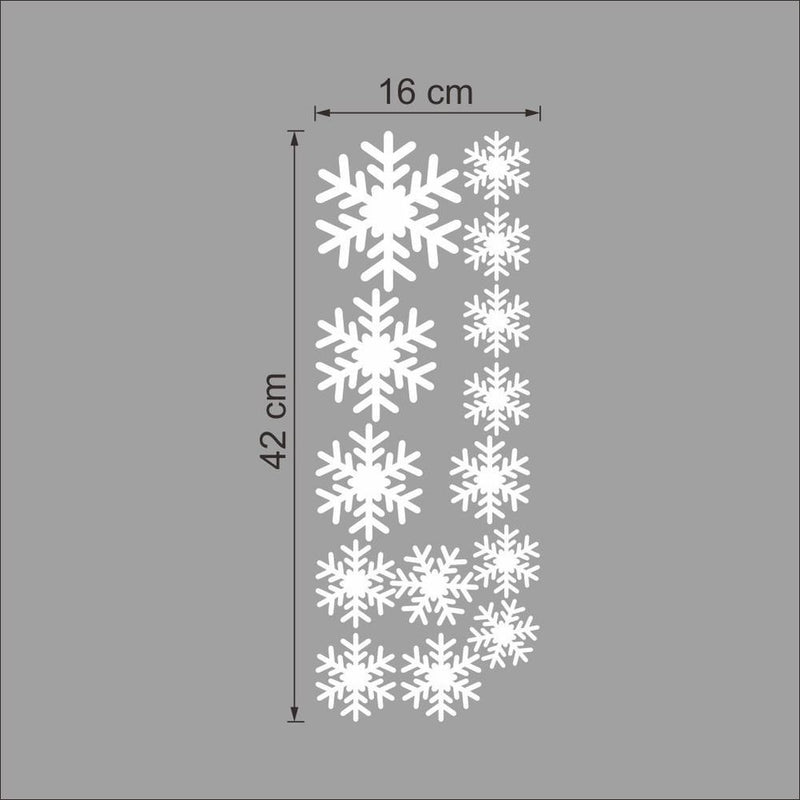 Merry Christmas White Snowflakes Wall Stickers - InStyle Walls LLC