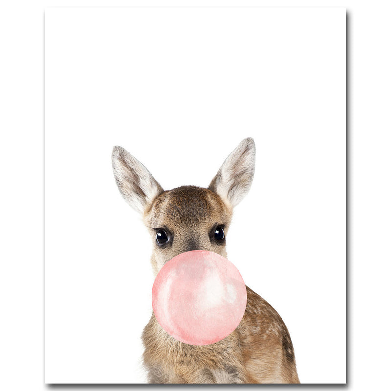 Bubble Gum Animals Canvas - InStyle Walls LLC