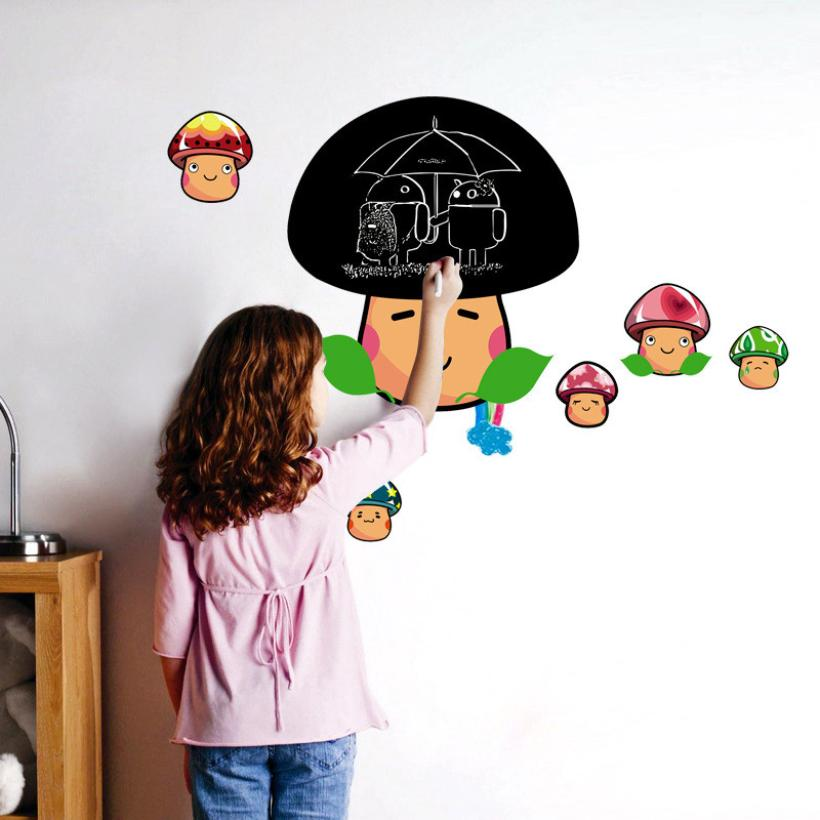 Mushroom blackboard Wall Sticker Decoration - InStyle Walls LLC