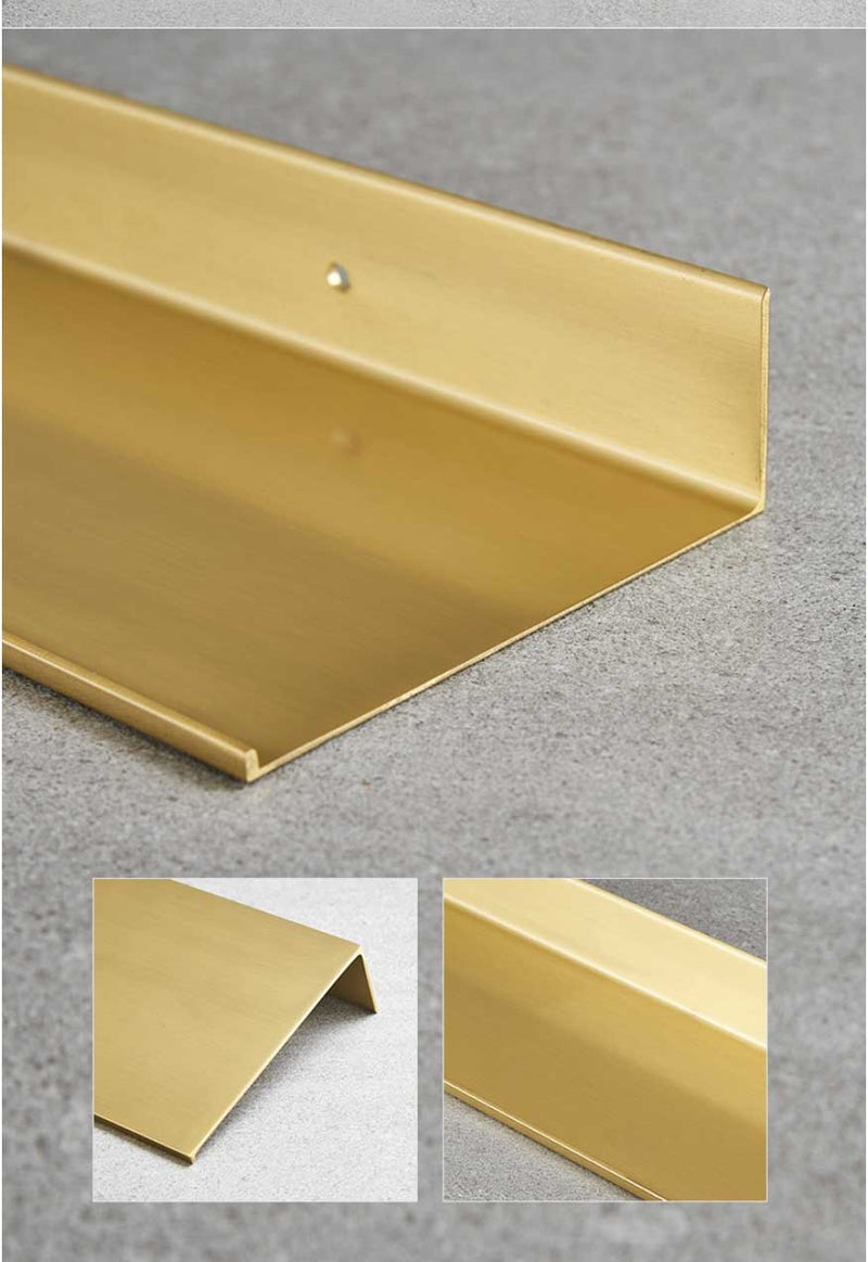 Brushed Gold Metal Wall Shelf - InStyle Walls LLC
