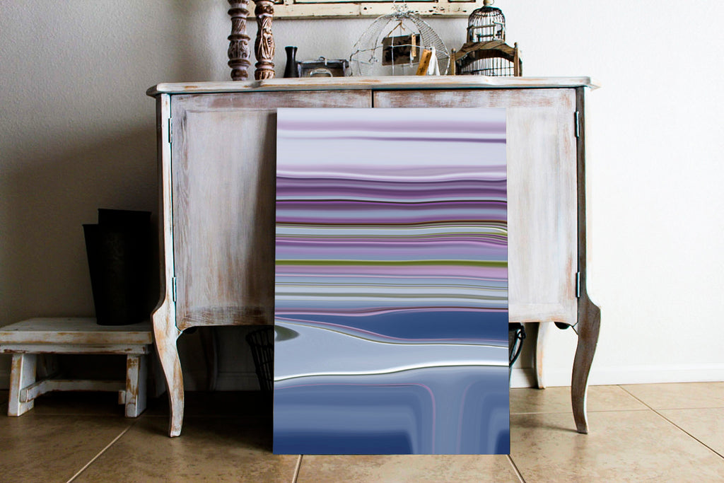 Lilac Stripes Canvas Wrap - InStyle Walls LLC