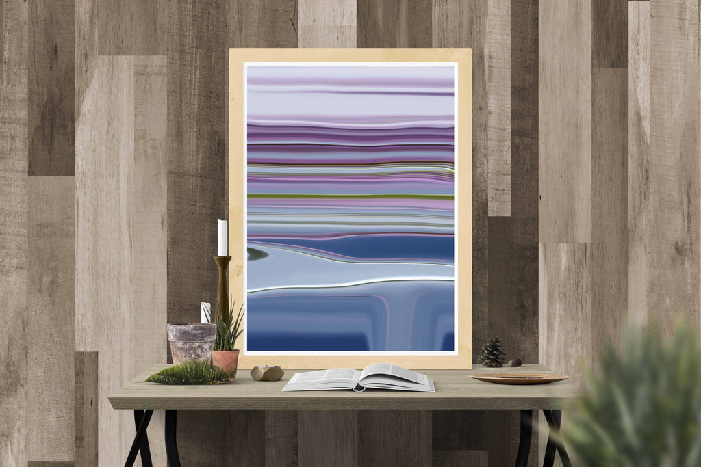 Lilac Stripes Canvas Poster - InStyle Walls LLC