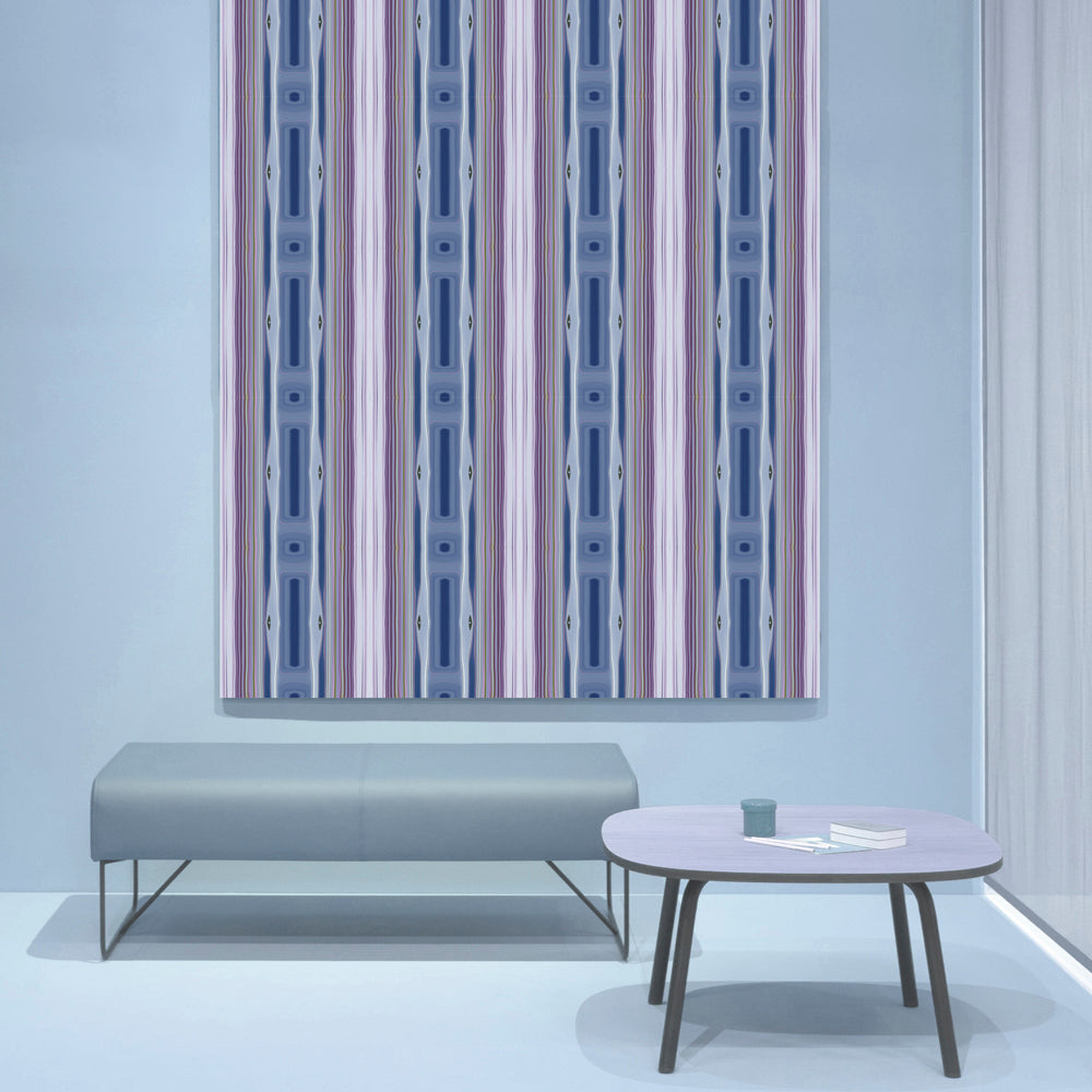 Lilac Stripes Wallpaper - InStyle Walls LLC
