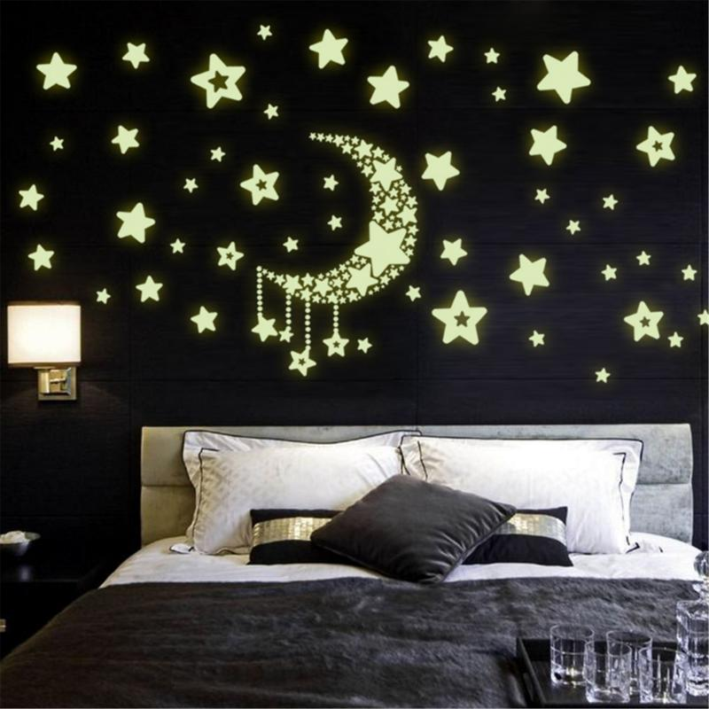 Glow in The Dark Green Butterfly Wall Decals