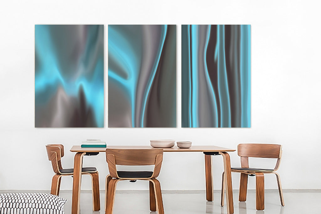 Teal Clouds II Canvas Wrap - InStyle Walls LLC