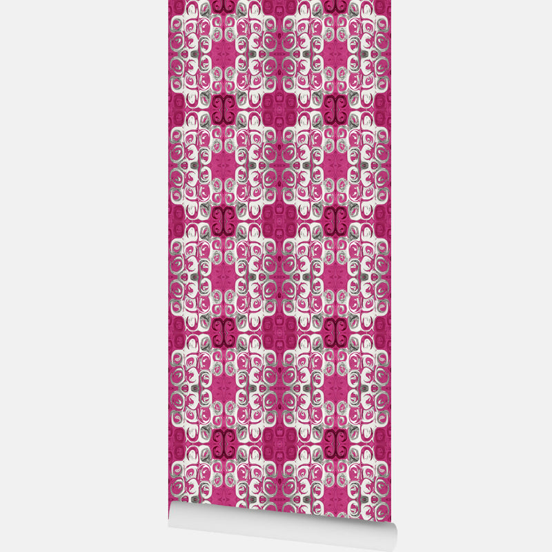 Pink Flower Meadow Wallpaper - InStyle Walls LLC