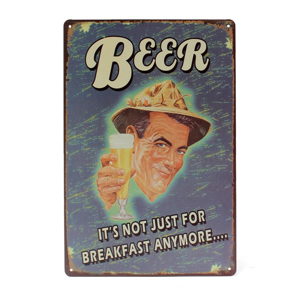 Beer Vintage Metal Sign - InStyle Walls LLC
