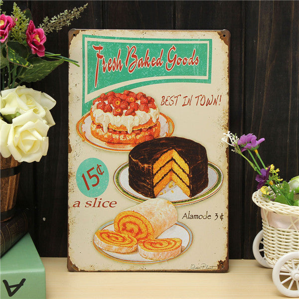 Bake Sheet Metal Sign - InStyle Walls LLC