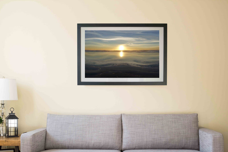 Ocean Sunset Canvas Poster - InStyle Walls LLC
