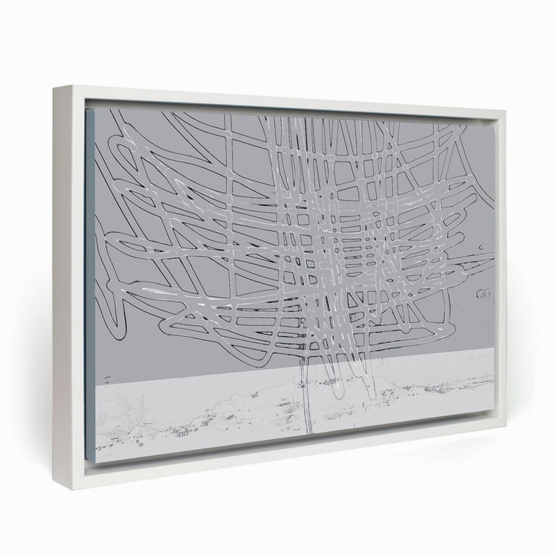 Thunder Above the City I Framed Canvas - InStyle Walls LLC