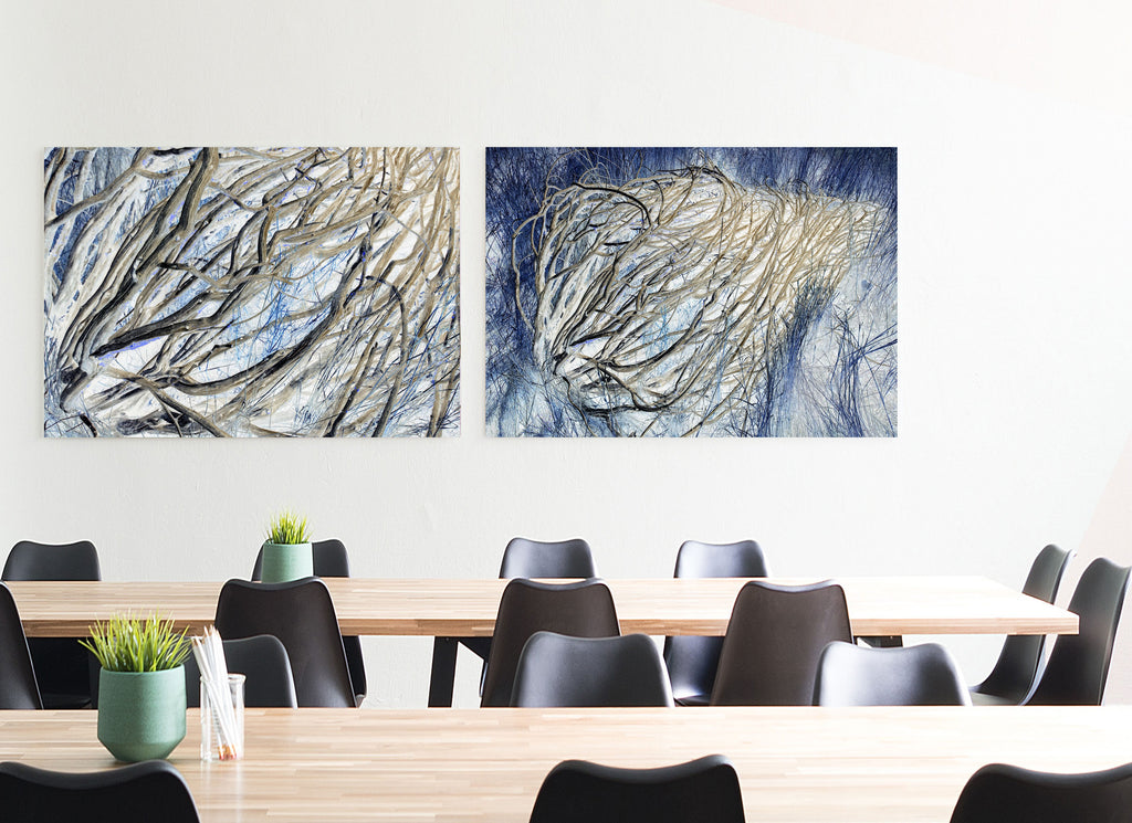 Blue Tumbleweed Canvas Wrap - InStyle Walls LLC