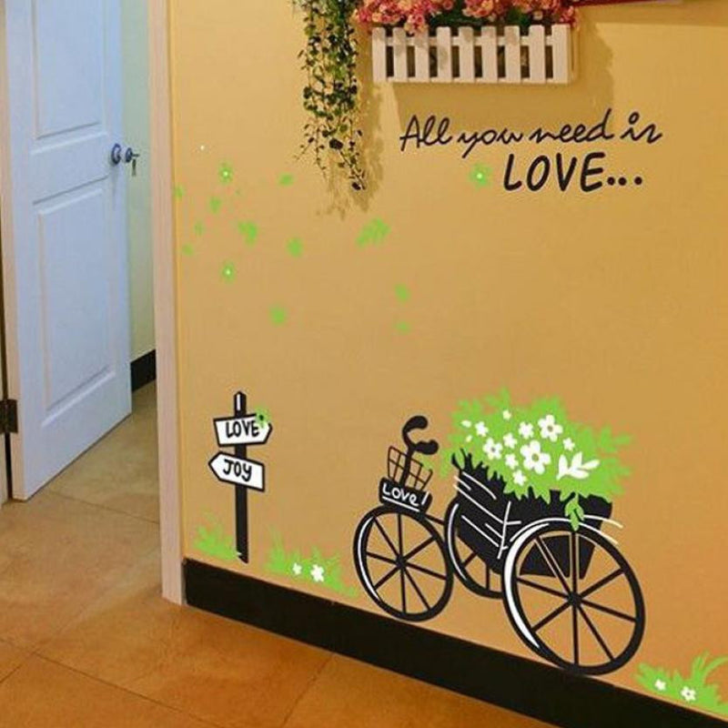 Fresh Nature Bicycle Wall Sticker - InStyle Walls LLC