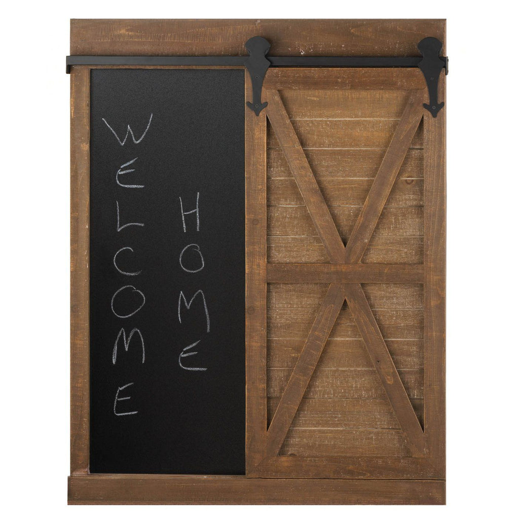 Chalkboard Mirror With Barn Door - InStyle Walls LLC
