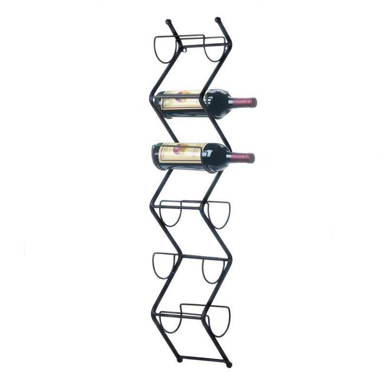 Sleek Wooden Wine Wall Rack