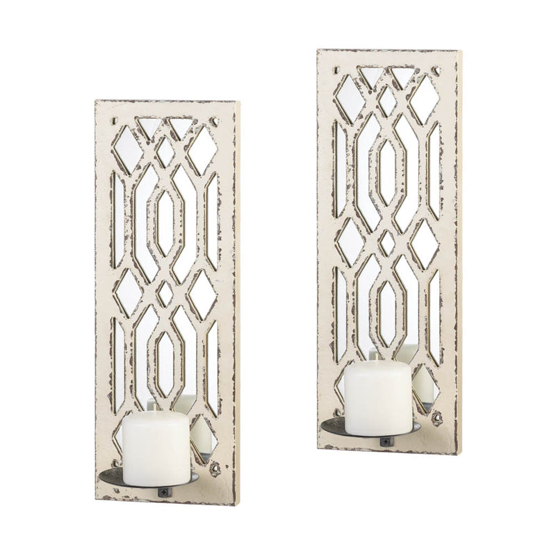 Ornate Candle Sconce Duo
