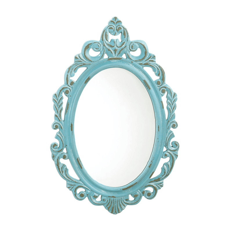 Distressed Baby Blue Wall Mirror - InStyle Walls LLC