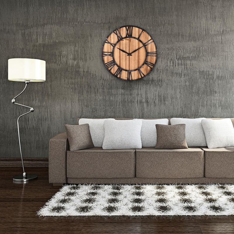 Vintage Style Round Wall Clock - InStyle Walls LLC