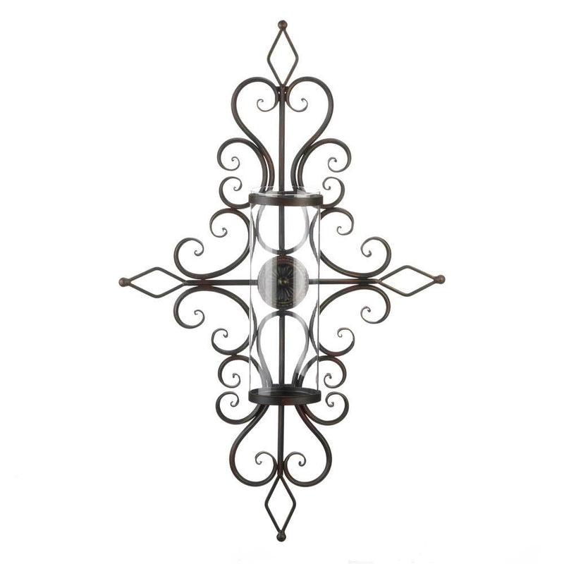 Flourished Candle Wall Sconce - InStyle Walls LLC