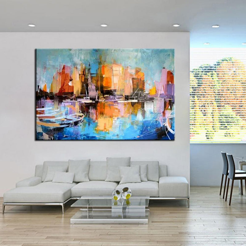Modern Abstract Landscape Oil Painting - InStyle Walls LLC