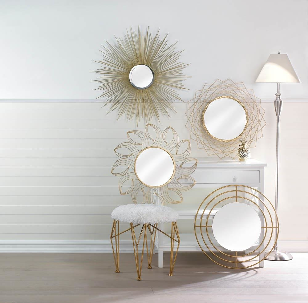 Golden Petals Wall Mirror - InStyle Walls LLC