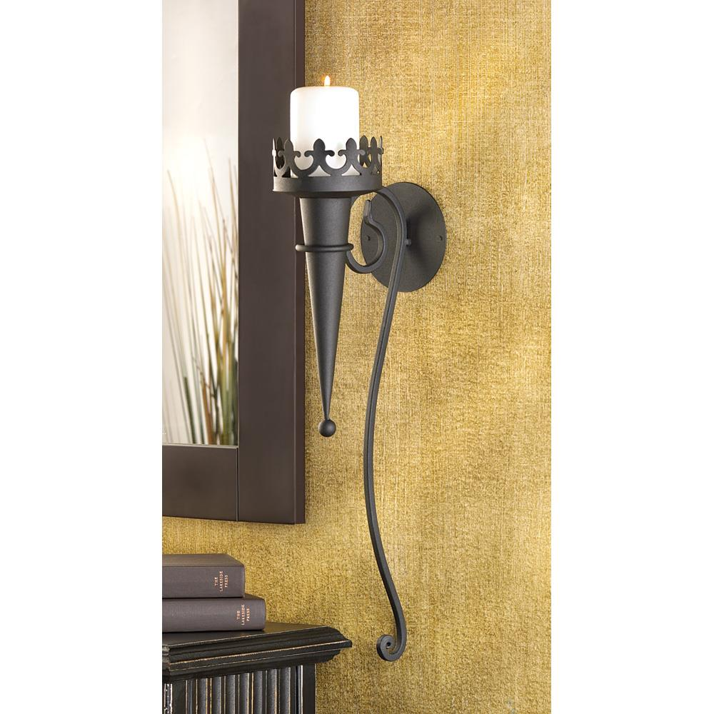 Gothic Candle Sconce - InStyle Walls LLC