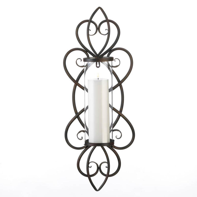 Heart Shaped Candle Wall Sconce - InStyle Walls LLC