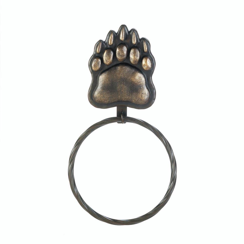 Iron Bear Paw Towel Ring - InStyle Walls LLC