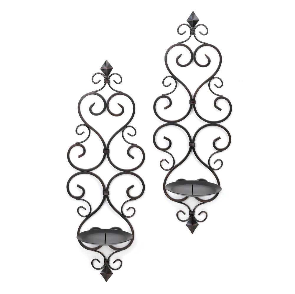 Fleur-de-Lis Wall Sconce Duo - InStyle Walls LLC