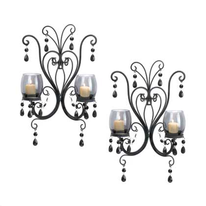 Midnight Elegance Candle Wall Sconces - InStyle Walls LLC