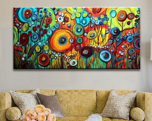 Large Abstract Art Oil Painting - InStyle Walls LLC