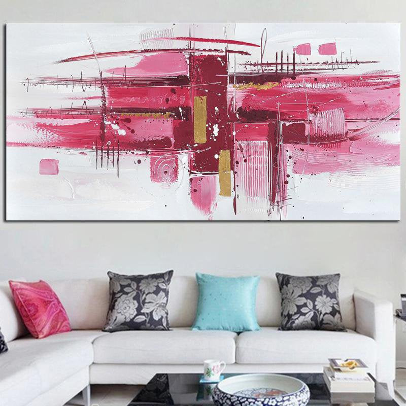 Noah Abstract Pink Wall Art - InStyle Walls LLC