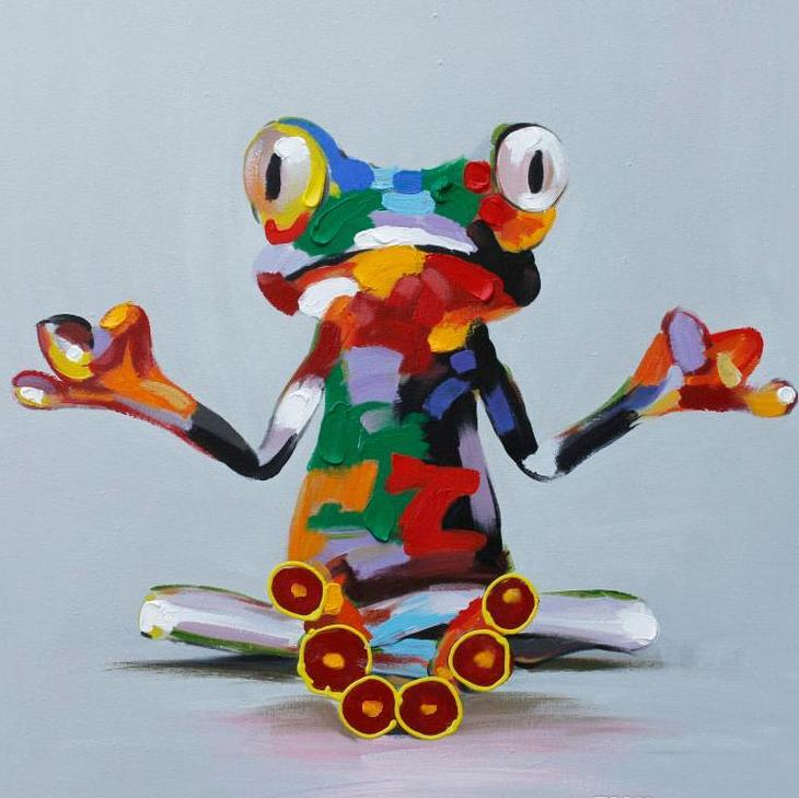 Frog Pop Art Modern Canvas - InStyle Walls LLC