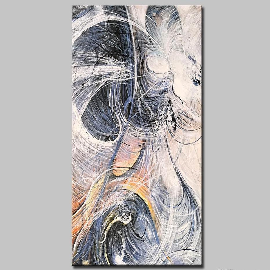 Calligraphy Abstract Oil Painting - InStyle Walls LLC