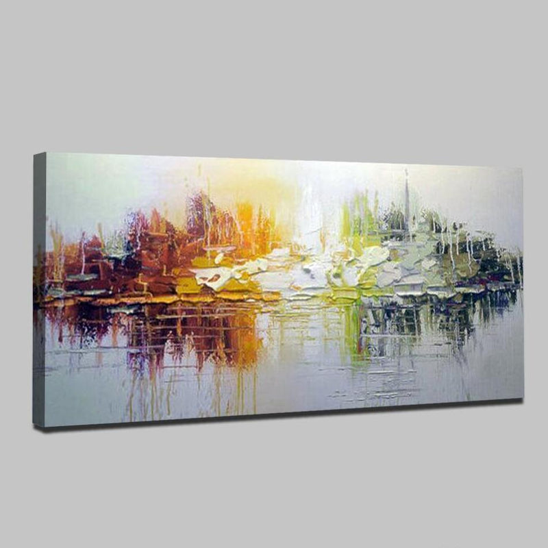 Seascape Abstract Simple Modern Canvas - InStyle Walls LLC