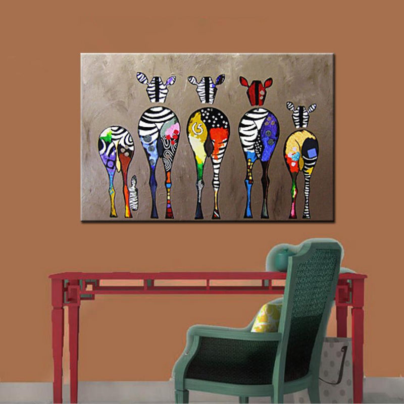 Zebras Pop Art Modern Canvas - InStyle Walls LLC
