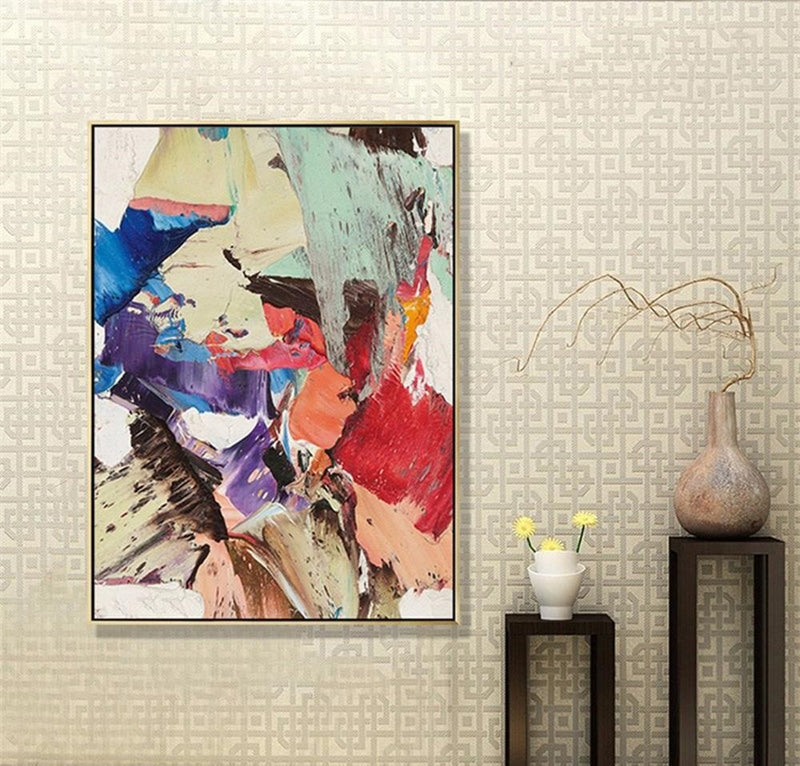 Abstract Contemporary Oil Painting Canvas - InStyle Walls LLC