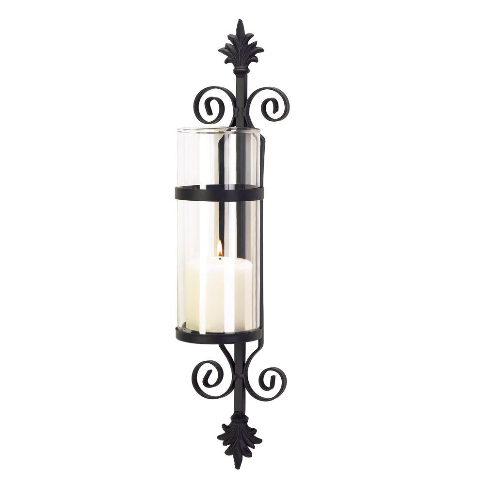 Ornate Scroll Candle Sconce - InStyle Walls LLC