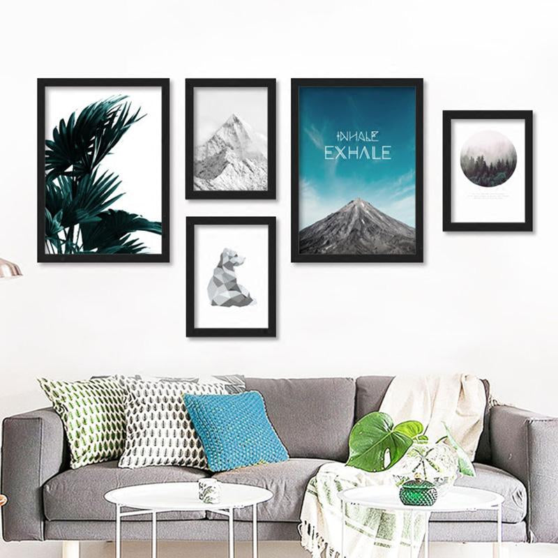 Beach Forest Wall Art Canvas - InStyle Walls LLC