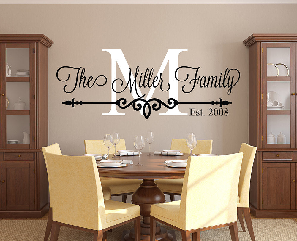 Personalized Family Monogram Wall Decal - InStyle Walls LLC