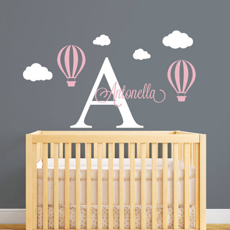 Hot Air Balloon Customized Name Wall Decal - InStyle Walls LLC