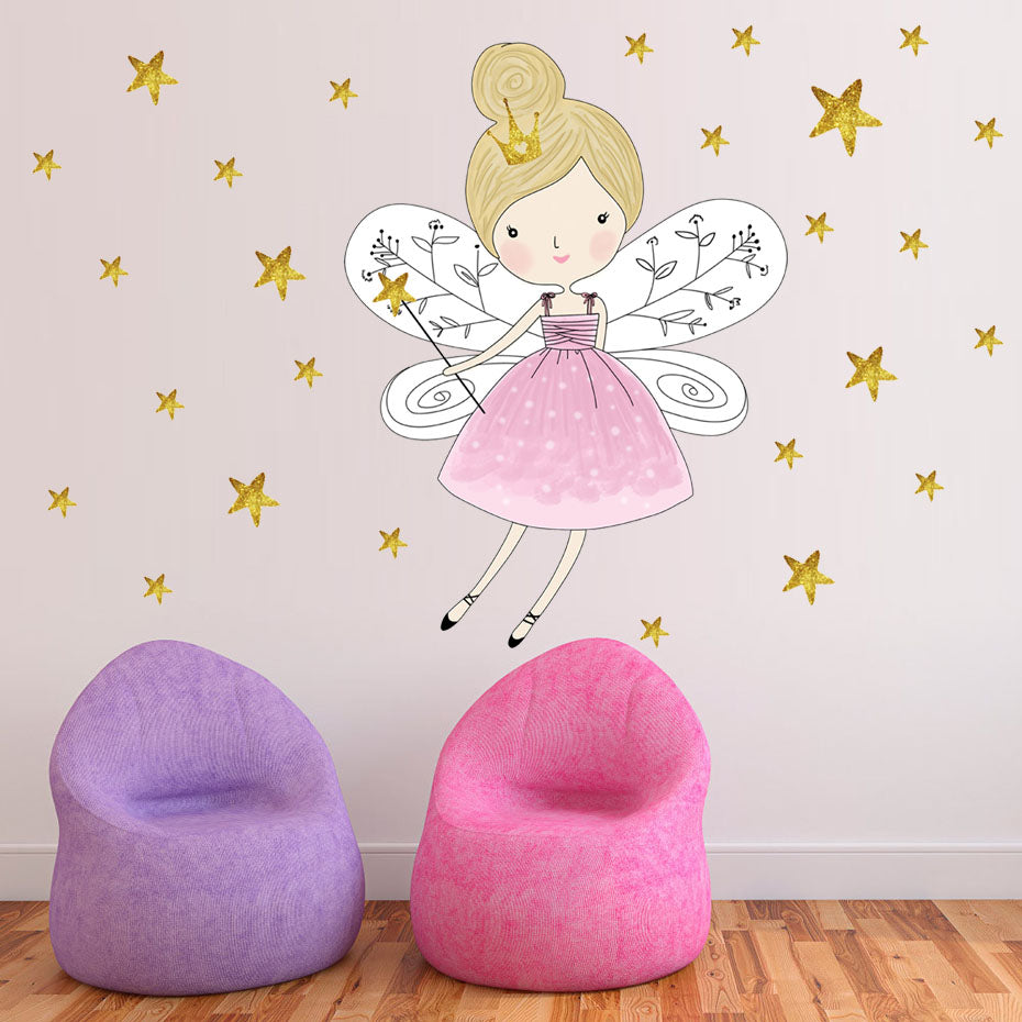 Cartoon Fairy Girl Wall Sticker - InStyle Walls LLC