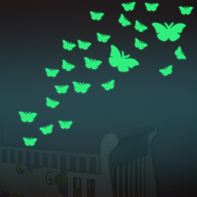 Glow in The Dark Green Butterfly Wall Decals - InStyle Walls LLC