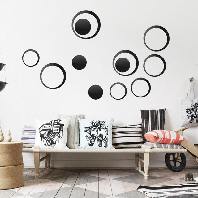 Circles Wall Mirror Stickers - InStyle Walls LLC