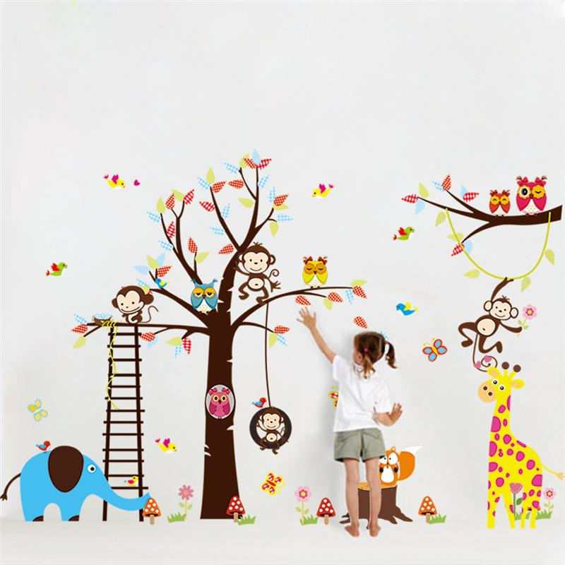 Beautiful Girl Butterfly Flower Wall Sticker