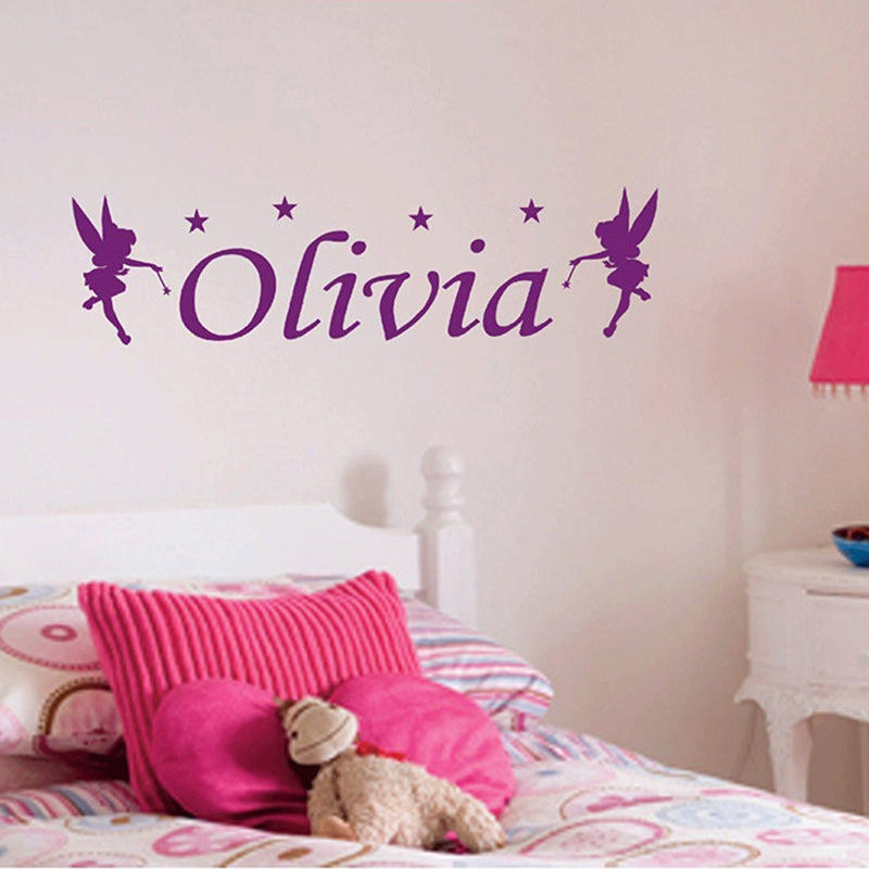Personalized Name Fairy Wall Stickers - InStyle Walls LLC