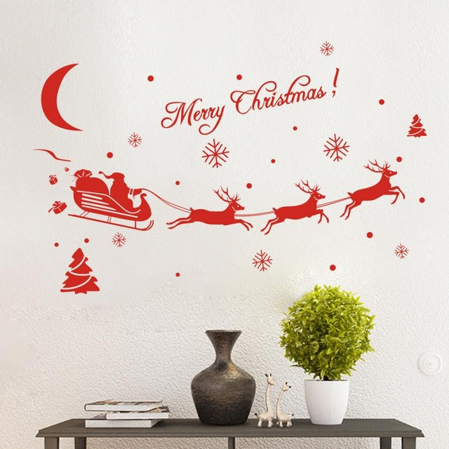 Holiday curtains hanging chain wall stickers